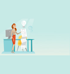 Business woman presenting business report vector
