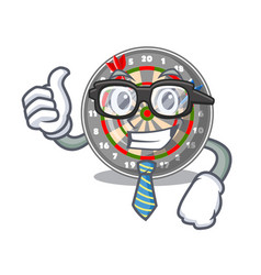 businessman dartboard in the shape of mascot vector image