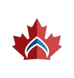 canadian leaf crown symbol vector image