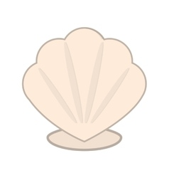 Cartoon seashell icon vector