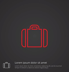 Case outline symbol red on dark background logo vector
