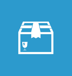 closed box icon shipping pack flat on blue vector image