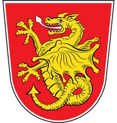 Coat of arms of wartenberg in erding in bavaria vector