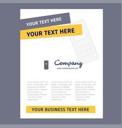Cpu title page design for company profile annual vector