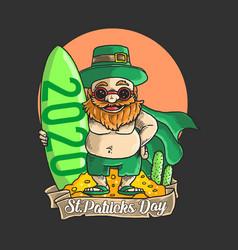cute st patricks day character holiday vector image