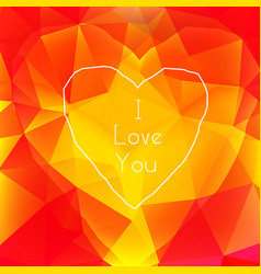 design concept of valentines card vector image