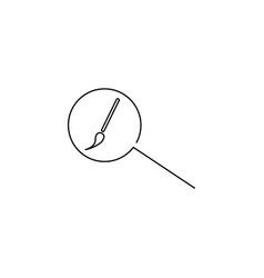 design search linear icon vector image