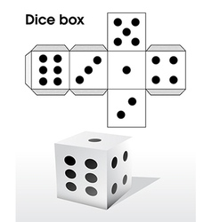 Dice template vector