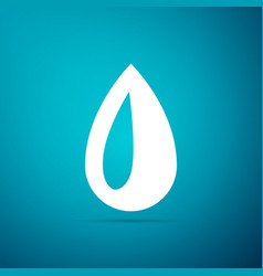 drop icon isolated on blue background vector image