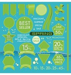 Element green olives Leather labels on Spring set vector image