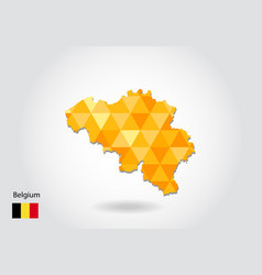 geometric polygonal style map of belgium low poly vector image