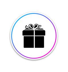 gift box icon isolated on white background circle vector image