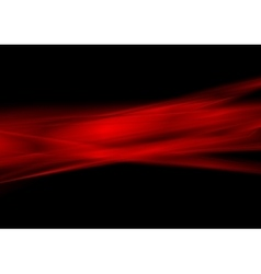 Glowing red stripes on black background vector
