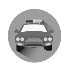 Grayscale car police icon image vector