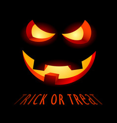 halloween poster with evil smile and inscription vector image