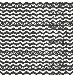 Hand drawn seamless pattern with wavy brush vector image