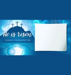 Hi is risen holy week poster vector