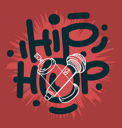 Hip hop lettering custom type design with a vector