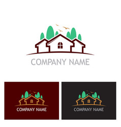 Home realty tree logo vector