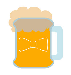 isolated beer with a bowtie icon vector image