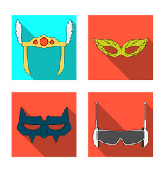 isolated object of hero and mask logo collection vector image