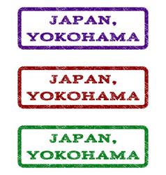 Japan yokohama watermark stamp vector