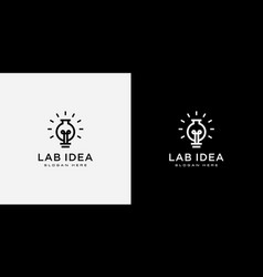 lab bulb idea logo design vector image