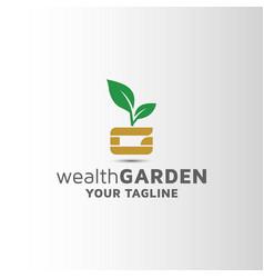 Letter g natural leaf business logo design vector