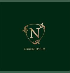 Letter n alphabetic logo design template vector