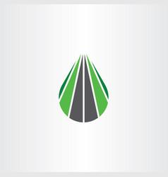 logo road highway path icon symbol element vector image