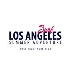 los angeles surfing emblem or logo vector image