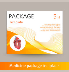 Medicine package template design with realistic vector