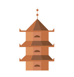 Medieval tower isolated icon vector