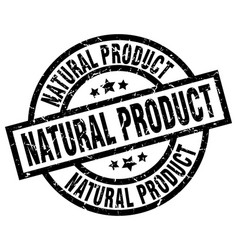Natural product round grunge black stamp vector