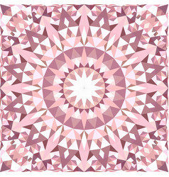 Pink abstract seamless triangle mosaic tile vector