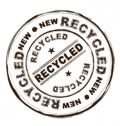 recycled ink stamp vector image