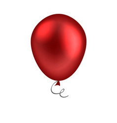 red balloon isolated on white background vector image