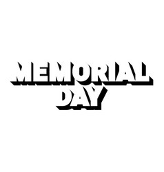remember and honor memorial day usa vector image