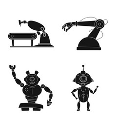 robot and factory symbol vector image