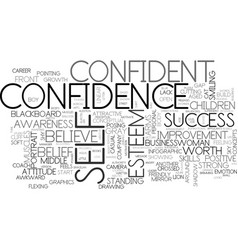 Self-confidence word cloud concept vector
