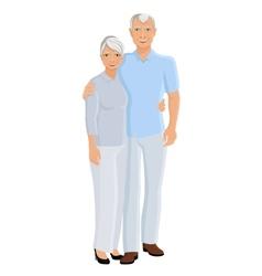 Senior couple full length vector
