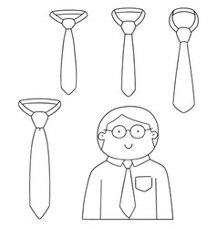 Set of necktie vector