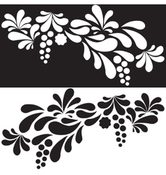 Set of white and black silhouettes arc drop design vector image