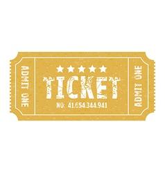 single ticket vector image