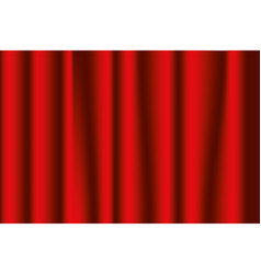 stage curtains red vector image