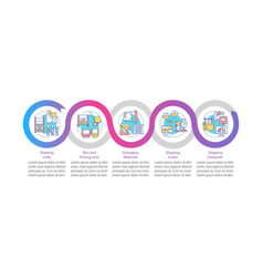 Storage onboarding infographic template vector