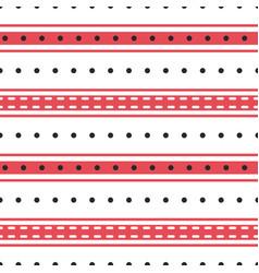 stripes and polka dot seamless pattern vector image