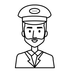 taxi driver with hat vector image