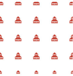 Temple icon pattern seamless white background vector