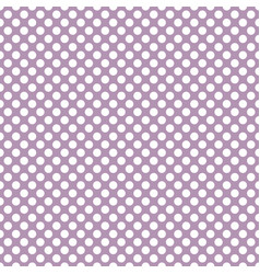 Tile pattern with white polka dots on violet vector